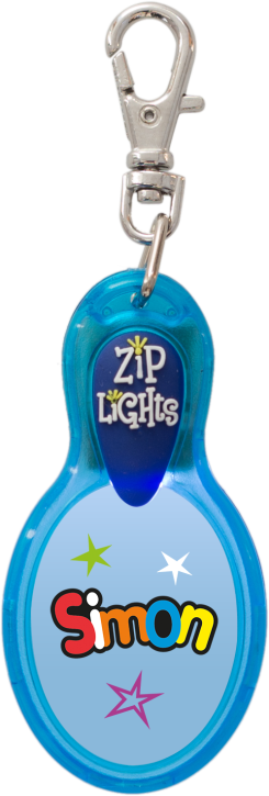 John Hinde Zip Light mit Namen Simon