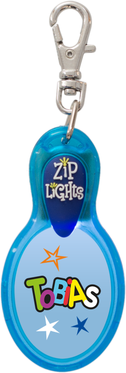 John Hinde Zip Light mit Namen Tobias