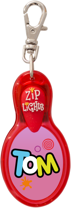 John Hinde Zip Light mit Namen Tom