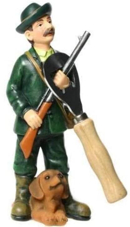 Figur mit Flaschenöffner Jäger