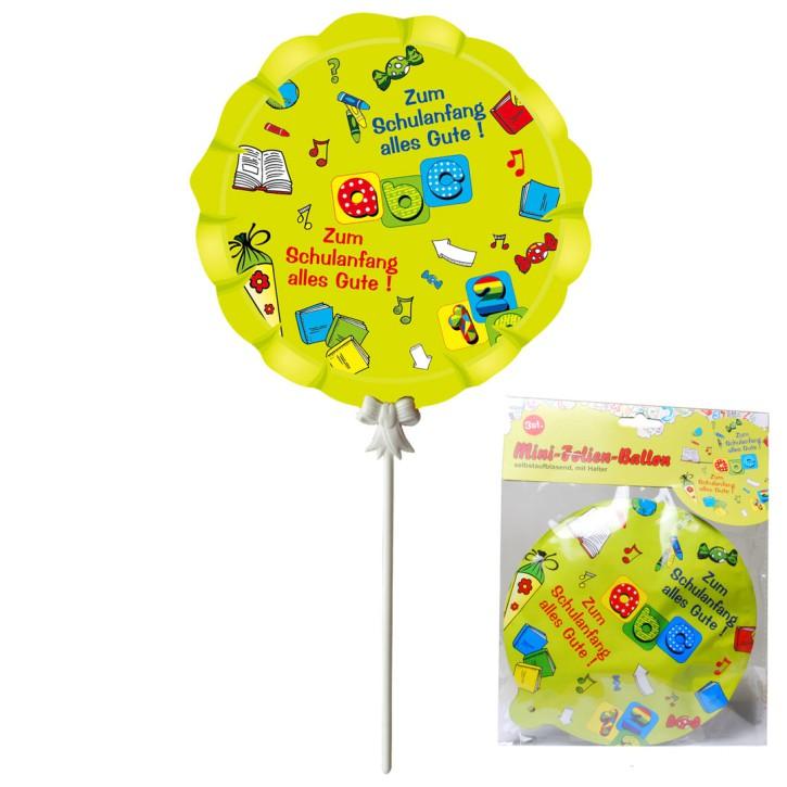 """Ballon """"Schulanfang"""", 3-tlg., selbstaufblasend"""