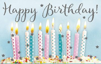 Geburtstagsteelicht in kleiner Box Happy Birthday!
