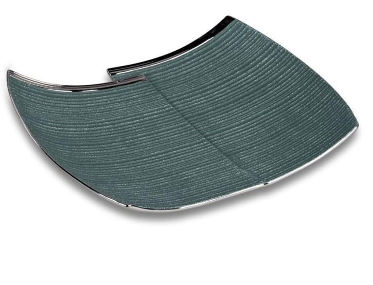 Deko-Schale petrol  grün-silber 26x20cm aus Keramik matt reliefierte Oberfläche
