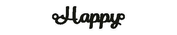 Versilbertes Armband mit Spruch Happy