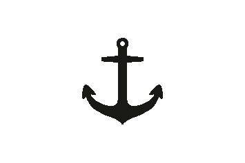 Versilbertes Armband mit Anker (Symbol)