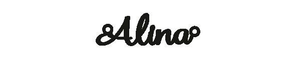 Versilbertes Armband mit Namen Alina