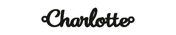 Versilbertes Armband mit Namen Charlotte