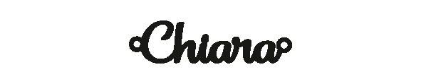 Versilbertes Armband mit Namen Chiara