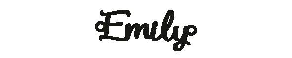 Versilbertes Armband mit Namen Emily