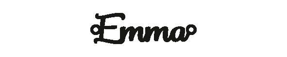 Versilbertes Armband mit Namen Emma