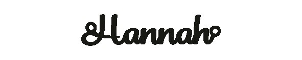 Versilbertes Armband mit Namen Hannah
