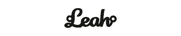 Versilbertes Armband mit Namen Leah
