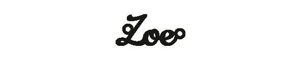 Versilbertes Armband mit Namen Zoe