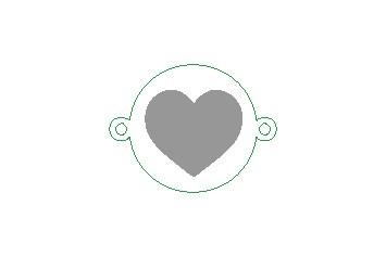 Versilbertes Armband mit Herz (Symbol)