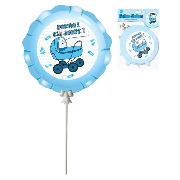 Ballon zur Geburt Junge, 3-tlg., selbstaufblasend