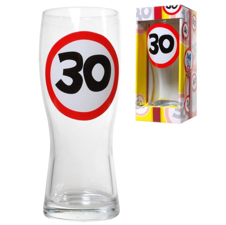 Bierglas 30 zum 30. Geburtstag