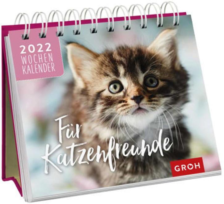 Jahreskalender Für Katzenfreunde 2022 Tischkalender mit Wochenkalendarium