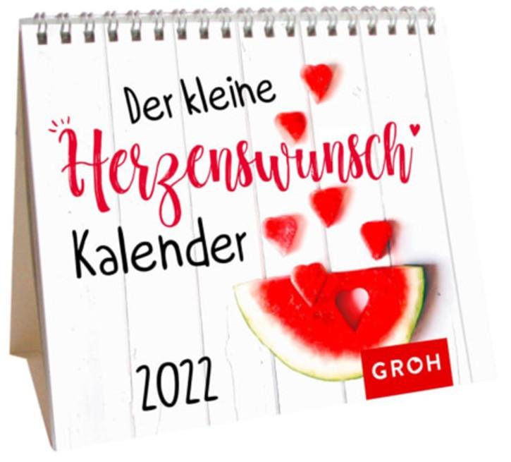 Der kleine Herzenswunschkalender 2022 Mini Monatskalender auch zum Aufstellen, von Groh Wochenkalender