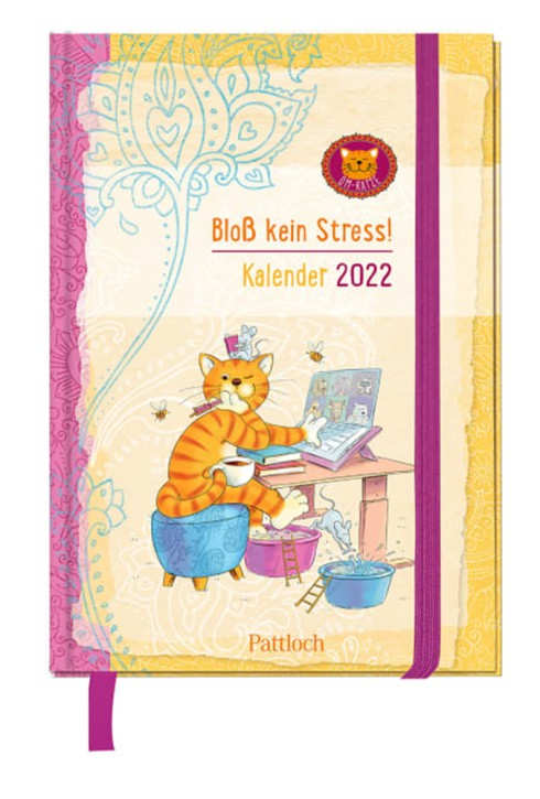 Groh Kalender Om-Katze:Om-Katze - Bloß kein Stress! - Taschenkalender, Terminkalender, Wochenplaner mit Monatskalendarium und Ferienterminen