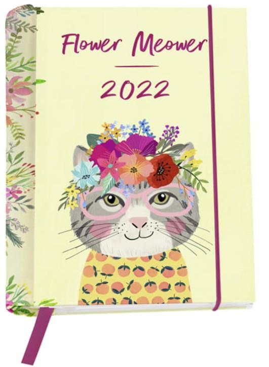Groh Flower Meower 2022 - Buchkalender: Wochenkalender mit 12 Postkarten- Taschenkalender, Terminkalender, Wochenplaner mit Monatskalendarium und Ferienterminen
