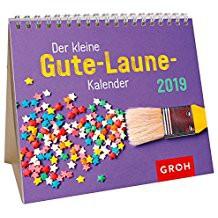 Groh Mini-Kalender 2019 zum Aufstellen Bunter Mini-Kalender für gute Laune