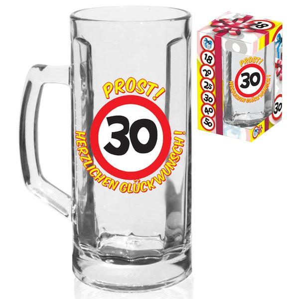 """Bierhumpen """"30"""" Bierglas zum 30. Geburtstag"""