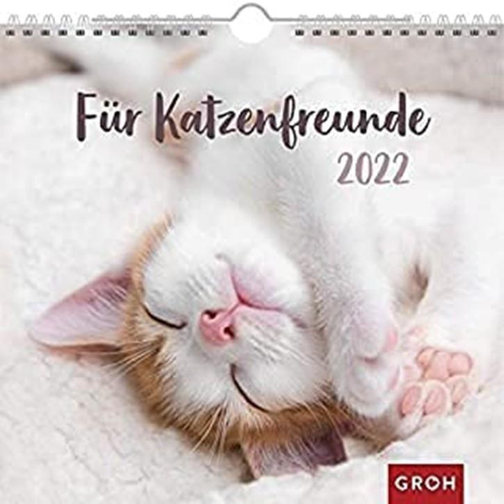 Groh Wandkalender Katzenkalender 2022 Für Katzenfreunde mit Monatskalendarium für Katzenliebhaber