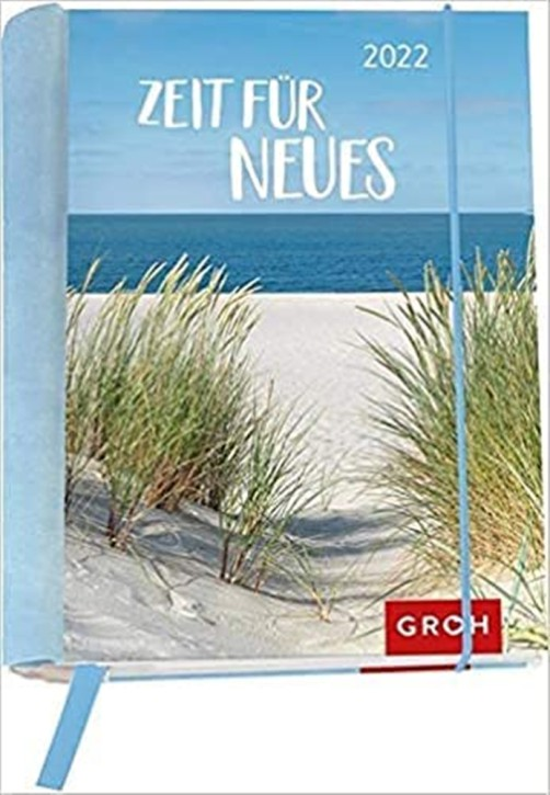 Groh Buchkalender Wochenkalender 2022 Zeit für Neues - Terminkalender für die Handtasche mit 12 wunderschönen Postkarten