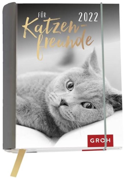 Groh Buchkalender Wochenkalender 2022 Für Katzenfreunde - Terminkalender für die Handtasche mit 12 wunderschönen Postkarten