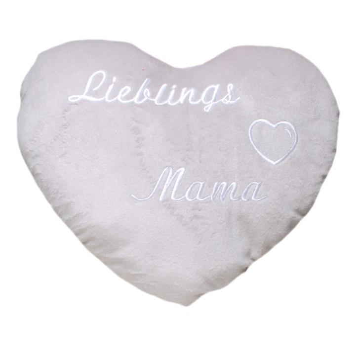 Herz-Kissen Lieblings-Mama Kuschelkissen als Geschenk für Mütter
