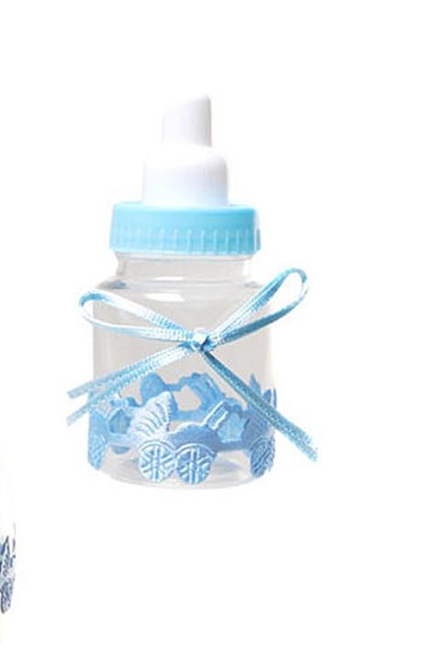 Mini-Nuckelflasche zum Befüllen blau