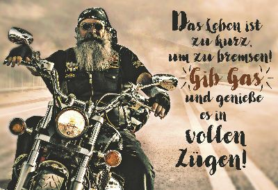 Cartolini Klappkarte mit Sprüchen 038 Das Leben ist zu kurz, um zu bremsen!...