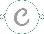 Versilbertes Namensarmband mit Buchstabe C