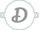 Versilbertes Namensarmband mit Buchstabe D