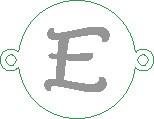 Versilbertes Namensarmband mit Buchstabe E