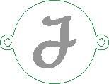 Versilbertes Namensarmband mit Buchstabe J