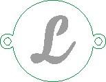 Versilbertes Namensarmband  mit Buchstabe L