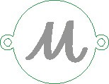 Versilbertes Namensarmband  mit Buchstabe M