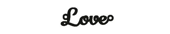 Versilbertes Armband mit Spruch Love
