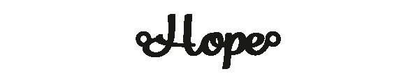 Versilbertes Armband mit Spruch Hope