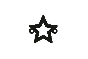 Versilbertes Armband mit Stern (Symbol)