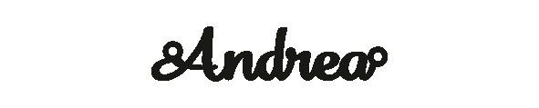 Versilbertes Narmenarmband mit Namen Andrea