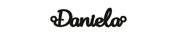 Versilbertes Narmenarmband mit Namen Daniela