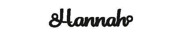 Versilbertes Narmenarmband mit Namen Hannah