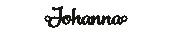Versilbertes Armband mit Namen Johanna