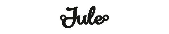 Versilbertes Narmenarmband mit Namen Jule