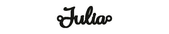Versilbertes Armband mit Namen Julia