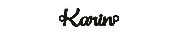 Versilbertes Narmenarmband mit Namen Karin