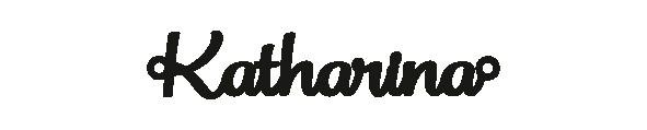 Versilbertes Armband mit Namen Katharina