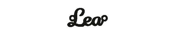 Versilbertes Armband mit Namen Lea